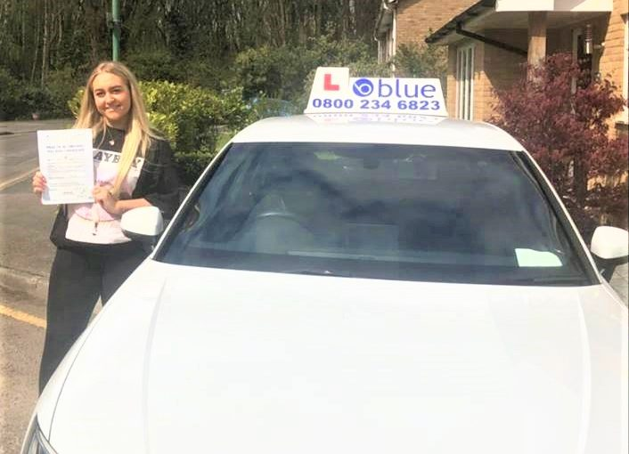 Farnborough Driving Test pass for Jasmine Doble