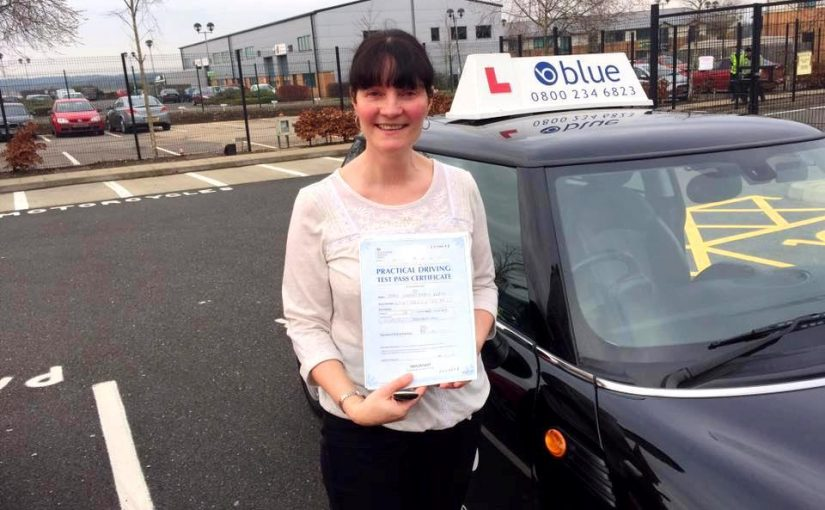 Congratulations to Sue Keats who passed her driving test in Farnborough today FIRST