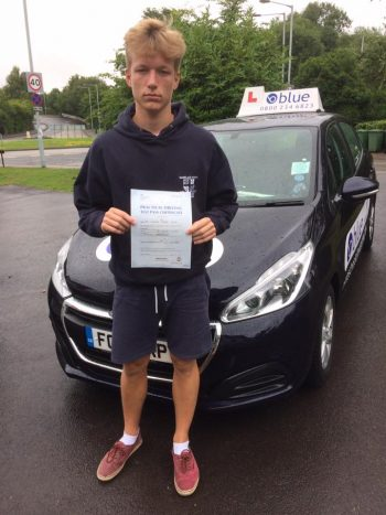 Farnborough Driving test Pass for Cameron Young