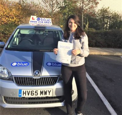 Farnborough Driving test for Annabelle Veitch