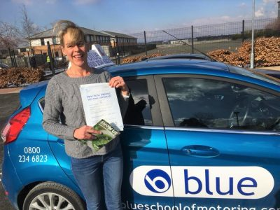 Farnborough Driving test pass for Angie Callis