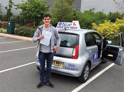 Farnborugh Driving Test Pass for Cameron Miller