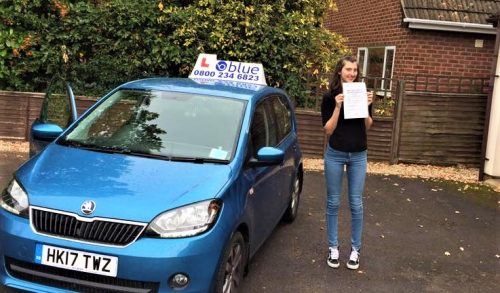 Finchampstead Driving Test Pass for Amy Beresford