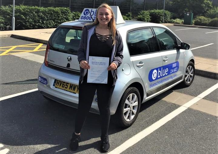 Loke Kershaw from Finchampstead who passed driving test first time in Farnborough