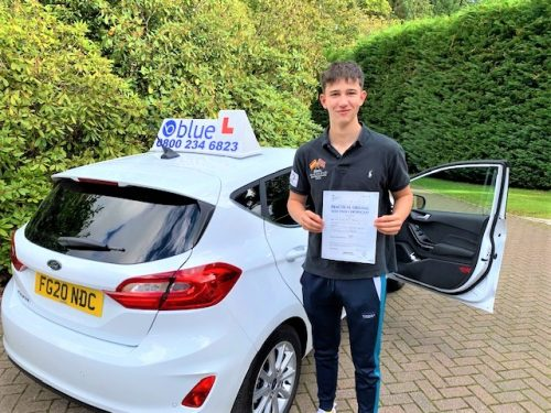 Finn Thomas of Ascot passed Driving test in Slough