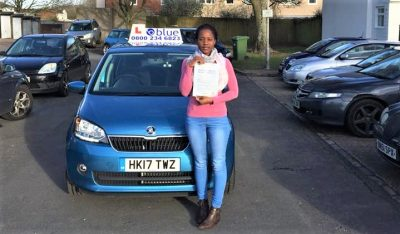 Franborough Driving test pass for Keturah Kawanguzi
