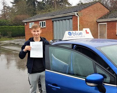 Frome Driving Test Pass for Kody Siejok