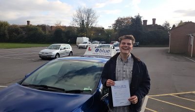 Frome Driving Test pass Jacob Burkitt