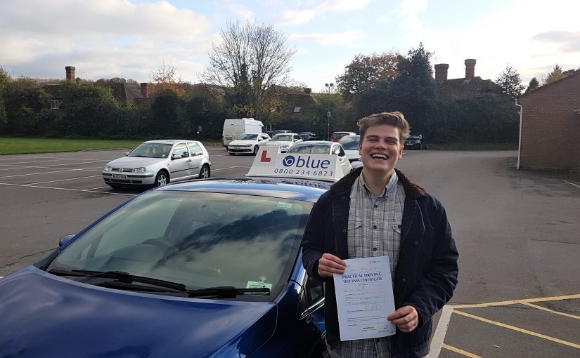 Jacob Burkitt of Frome in Somerset passed driving test FIRST TIME