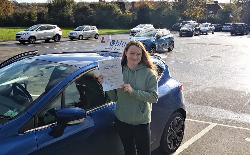 Kacey Ward from Frome in Somerset, who passed her driving test