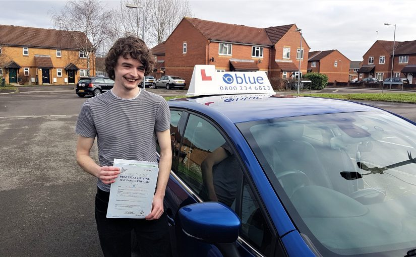 Ben Chant from Frome, Somerset who passed his driving test First Time in Trowbridge