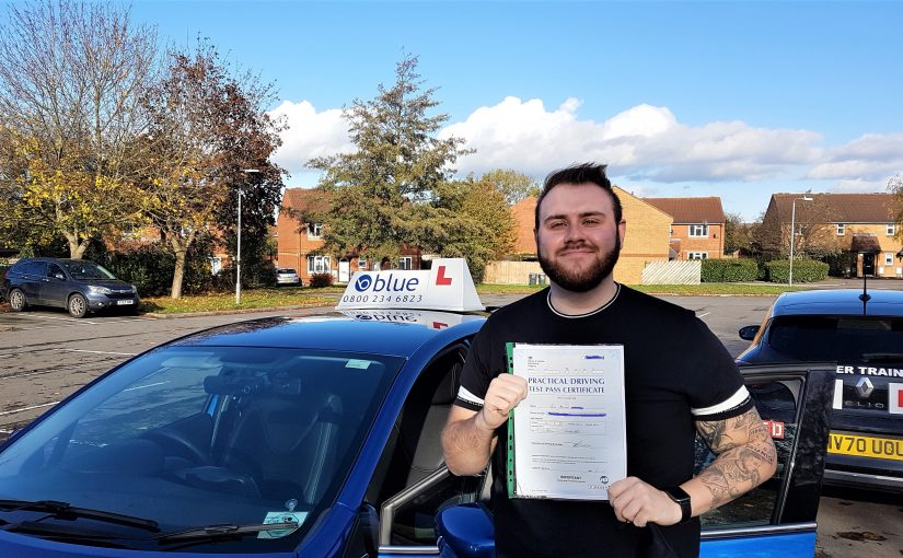 Cain Ward from Frome Somerset who passed his Driving Test FIRST