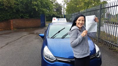 Frome Driving Test pass for Charlotte Smart 2