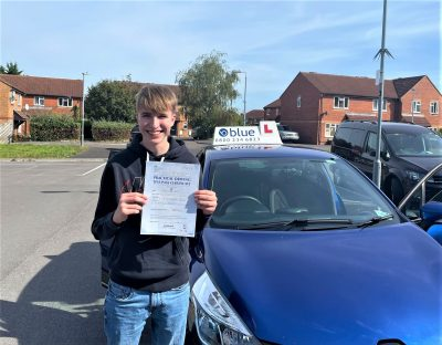 Frome Driving Test pass for Sam Marsh in Somerset