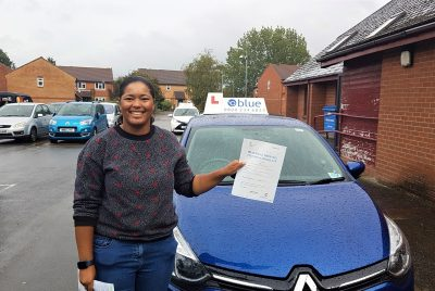 Frome Driving test pass for Iris Duarte