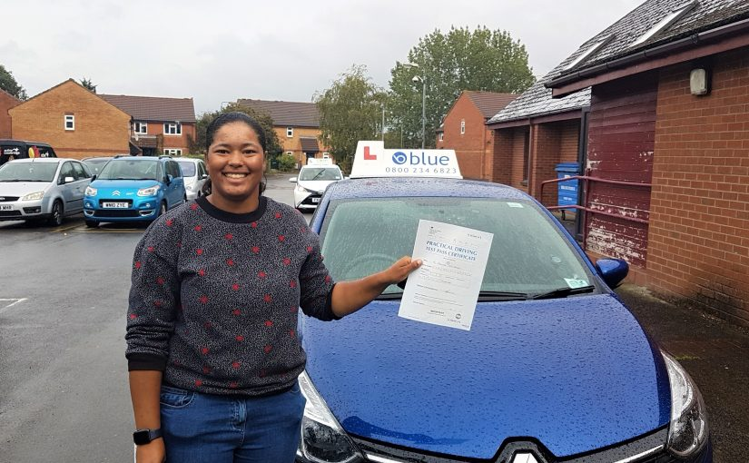 Iris Duarte of Frome in Somerset passed her driving test FIRST TIME
