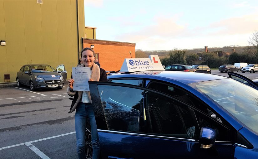 Louisa Marsh from Frome in Somerset passed her driving test