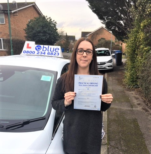 Gemma Geden of Datchet in Berkshire passed her driving test