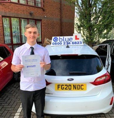 George Longstaff of Windsor Berkshire passed Driving Test