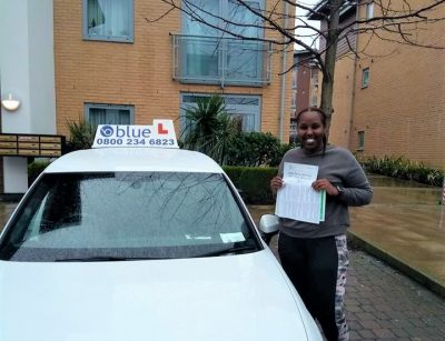 Hodan on passing your driving test in Farnborough