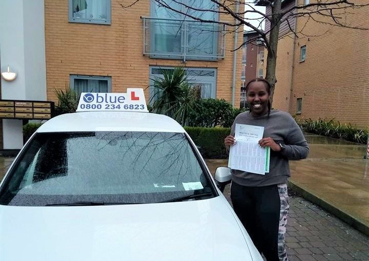 Fantastic Driving Test pass for Hodan in Farnborough