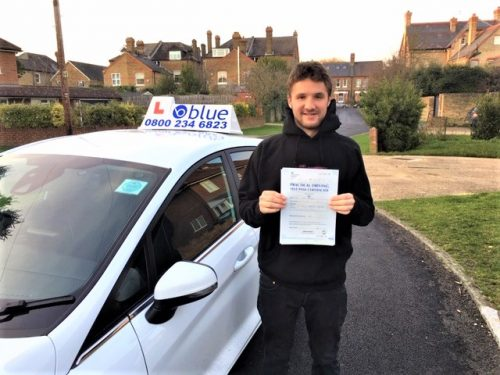 James Brudney of Windsor passed his driving test in Slough