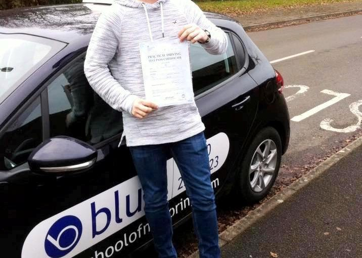 Congratulations to Jamie Hatch from Binfield on passing his driving test