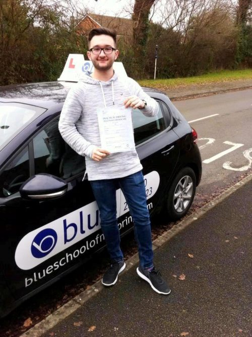 binfield driving test pass for Jamie Hatch
