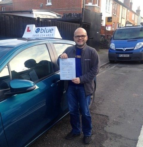 Jesus Strauss from Reading Berkshire passed his test first time.