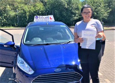 Josie Gray Passed her driving test in Taunton