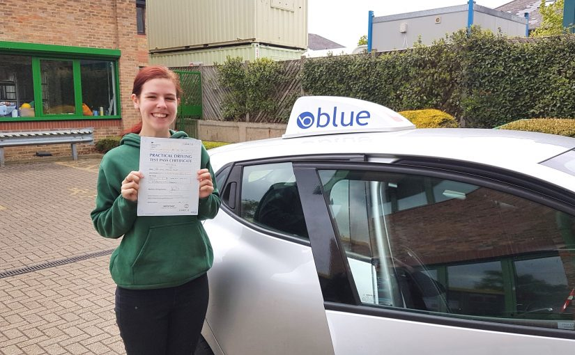 Very nice result for Katie Smith of Bracknell, Berkshire passed her driving test Very First Time