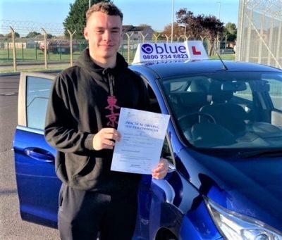 Kieran Smith passed driving test at Yeovil Somerset