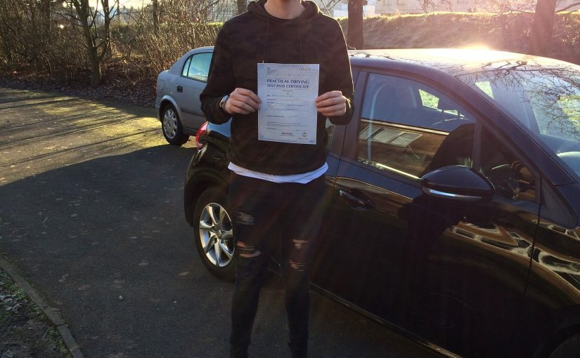 First time driving test pass for Kieran of Aldershot