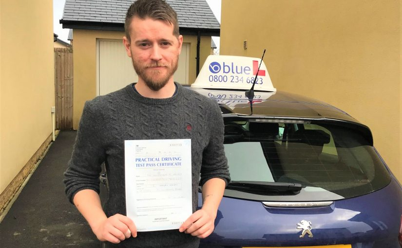 Driving Test pass for Kris Hicks of Bath Somerset