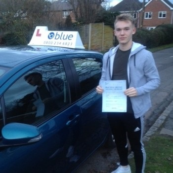 Leon Hewitt from Binfield passed his test today in Farnborough