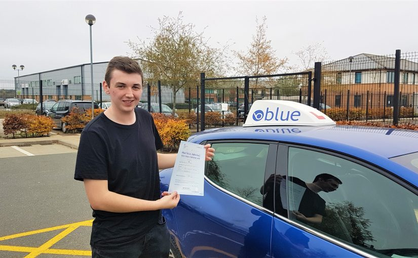 Ben Tuson of Lightwater, Surrey passed his driving test FIRST in Farnborough