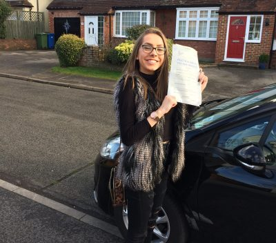 sandhurst driving lessons for Lucy