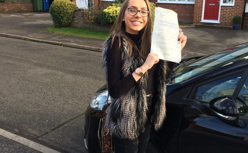 A first time driving test pass for Lucy from Sandhurst