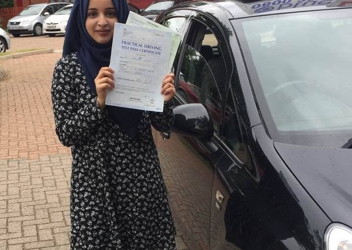 Congratulations to Maryam from Slough who passed her driving test today on her very FIRST attempt at Slough driving test centre