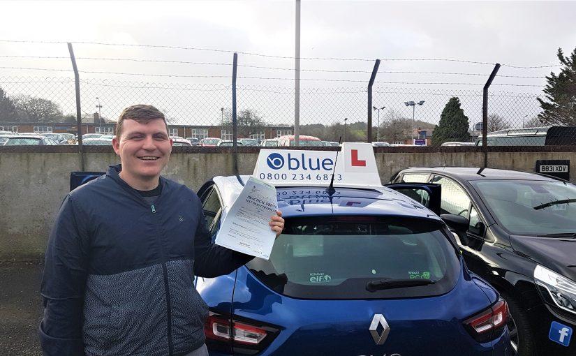 Midsomer Norton Driving Test pass for Stuart McDougall