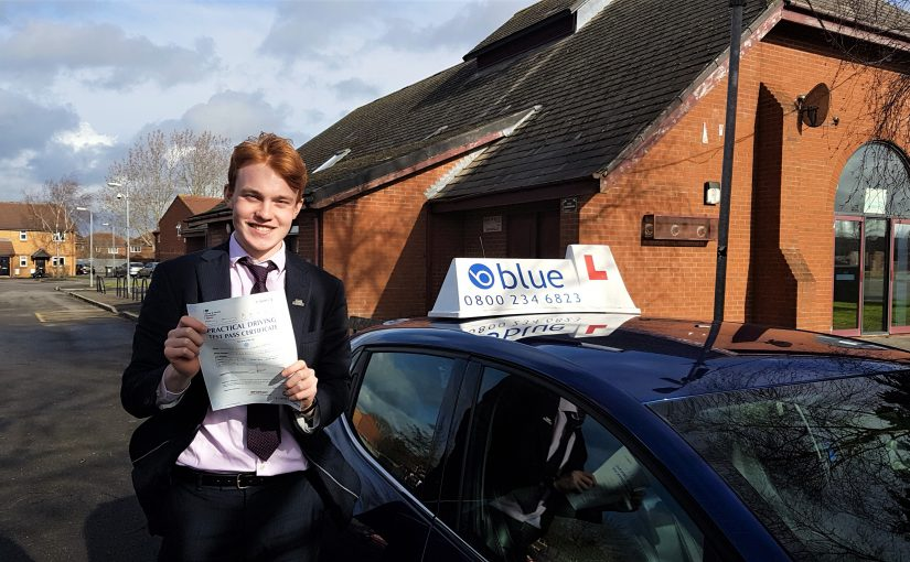 First Time pass for Greg Harden of Norton St Philip, Somerset who passed his driving test
