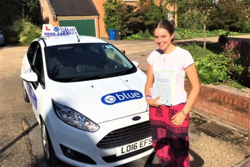 A fantastic Driving Test Pass result for Izzy Laughlan of Old Windsor, Berkshire