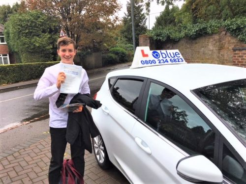 Old Windsor, Berkshire Driving Test pass for Louie Chaisty