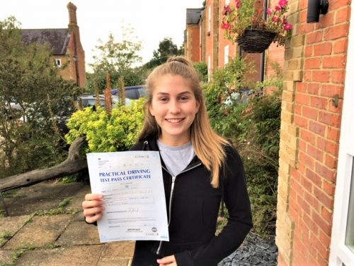 Congratulations to Hannah Germain of Old Windsor Passed Driving Test