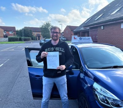 Oscar Brunslev From Chilcompton Passed his test First Time