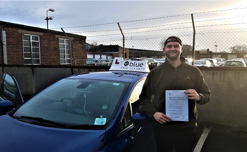 Finn Evans-Johnson of Radstock, Somerset passed driving test FIRST TIME