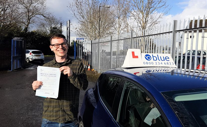 Kairon Dunbar-Barry of Radstock, Somerset who passed his driving test