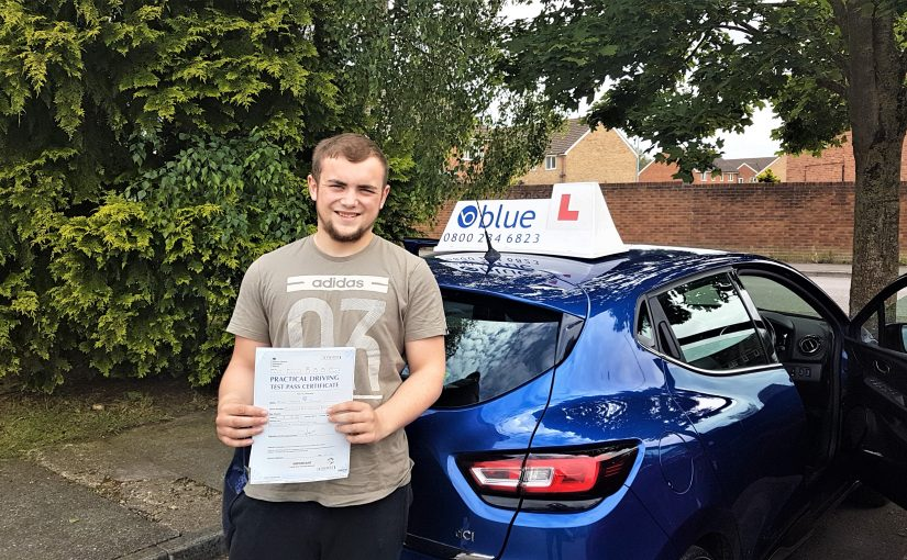 Miles Tucker from Radstock in Somerset, who passed his driving test