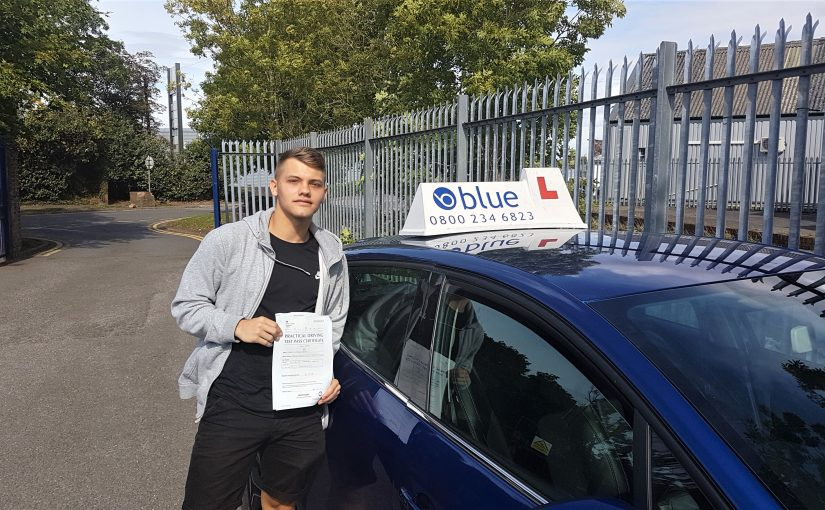 Congratulations to Reece Bryant of Radstock, Somerset who passed his driving test FIRST TIME