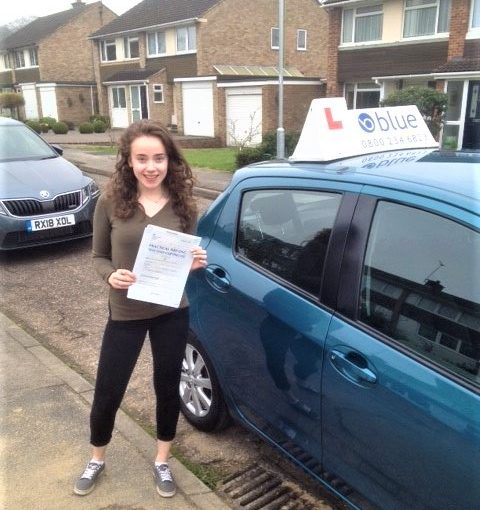 Alexandra Tuckey passed driving test in Reading